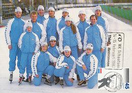 D33200 CARTE MAXIMUM CARD 1987 NETHERLANDS - SPEED SKATING TEAM YOUTH - POSTMARK WORLD CHAMPIONSHIP CP ORIGINAL - Winter (Other)