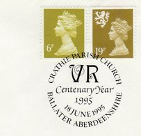 1995 Cover CRATHIE CHURCH Ballater CENTENARY  EVENT Gb  Stamps Religion - Churches & Cathedrals
