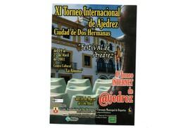 PEGATINA ADHESIVO STICKER XI TORNEO INTERNACIONAL DE AJEDREZ CIUDAD DE DOS HERMANAS SEVILLA SPAIN 2001 CHESS VER FOTO/S - Pegatinas