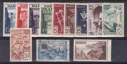 Maroc N° 315* à 318*,320*,321*,322*,323*,325*,326,327,329* - Unused Stamps
