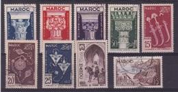 Maroc N° 315 à 318,320*,321,322,323,329 - Neufs