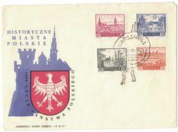 VE141    POLAND FDC 1960 POLISH HISTORICAL TOWNS - FDC