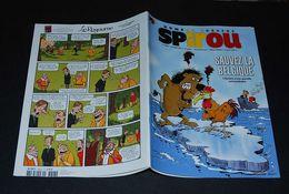 """Spirou 3823 Spécial Sauvez La Belgique Avec Autocollants """"sauvez La Belgique"""" - Spirou Magazine"""