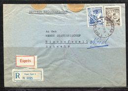 Jugoslavia, 1958 R-Brief / Express  Novi Sad N. Bischofszell - 1945-1992 Sozialistische Föderative Republik Jugoslawien
