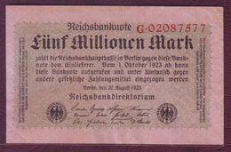 ALLEMAGNE - République De Weimar  5 000 000 Mark - 20/08/1923 - 5000 Mark