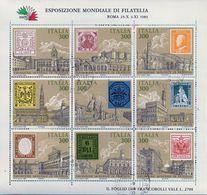 """PIA  -  ITALIE  -  1985 : Esposizione Mondiale Di Filatelia """"Italia '85""""  -     (SAS  Bf 2 ) - Blocchi & Foglietti"""