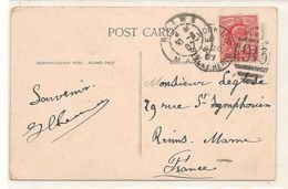 Marcophilie - Reims A Londres - 1913  - Philatelie - Machine Stamps (ATM)