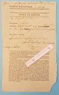 Garde Nationale - Savenay - Ordre De Service 1835 - Réception Sous-préfecture En Grande Tenue - Autographes