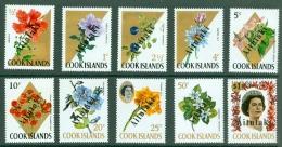 Aitutaki: 1972   Flowers 'Aitutaki' OVPT Set   SG49-58  MNH - Aitutaki