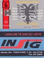 TARJETA TELEFONICA DE ALBANIA. 10.96 - TIRADA 100000  (057) - Albania