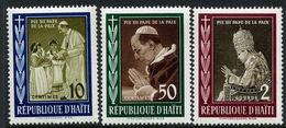 Haiti 1959 Pope Pius Regular Set Unmounted Mint. - Haiti