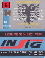 TARJETA TELEFONICA DE ALBANIA. 11.96 - TIRADA 85000 (059) - Albania