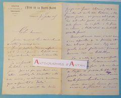 L.A.S 1895 L'ECHO DE LA HAUTE MARNE - Chaumont - Signataire à Identifier - Brunet De Boyer - Lettre Autographe - Autographes