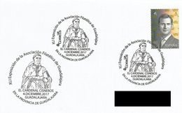 SPAIN. POSTMARK CARDENAL CISNEROS. GUADALAJARA 2017 - Affrancature Meccaniche Rosse (EMA)