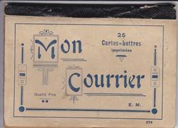 CARNET De 15 Cartes-lettres--mon Courrier--( Couverture état MOYEN Voir 3 Scans ° - Other Collections
