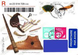 Estonia Estland Estonie 2014 (11) Europa - Musical Instruments - Zither, Accordion (addressed FDC) - Estonia