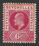 Seychelles, 6 C, 1903, Scott # 40, MH. - Seychelles (...-1976)