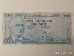 100 Kronur 1961 - Islande