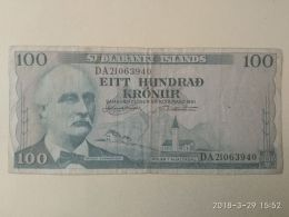 100 Kronur 1961 - Islanda