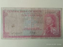 10 Shillings 1967 - Malta