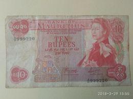 10 Rupie 1967 - Mauritius