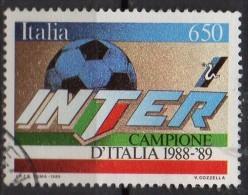 PIA - ITALIA - 1989 :  Inter Campione Del Campionato Di Calcio    - (SAS 1875) - 6. 1946-.. Repubblica