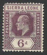 Sierra Leone, 6 P. 1905, Sc # 85, Mi # 63, MH. - Sierra Leone (...-1960)