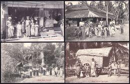 NICE COLLECTION OF 6 CPA CEYLAN - COLOMBO - SRI LANKA - @VOIR !! 2 Scans  - Sent Unther British Regime 1913 - Sri Lanka (Ceylon)