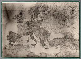 83Gt   CDV Photo Cartonnée Carte De L'Europe Et Afrique Du Nord - Maps