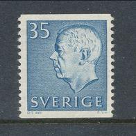 Sweden 1962 Facit # 424, Gustaf VI Adolf, Type III, See Description, MNH (**) - Nuovi