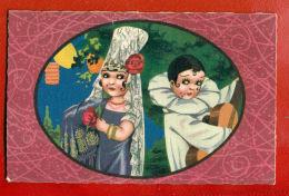 ART DECO ROMANCE # 2259 CLOWN MALVINA ARLEKINO VINTAGE PC. 661 - Künstlerkarten