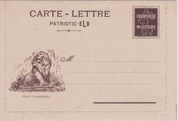FRANCE CARTE-LETTRE DE FRANCHISE MILITAIRE - Marcophilie (Lettres)