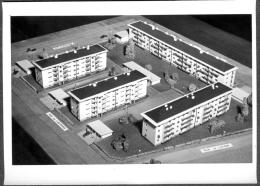 Photo Originale Projet Immeubles 68 Haut-Rhin Illzach Rue De Mulhouse, De L' Automne , De L' Hiver Début 1960 - Places