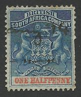 Rhodesia, British South Africa Company, 1/2 P, 1891, Sc # 1, Mi # 16, Used, - Great Britain (former Colonies & Protectorates)