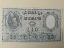 10 Koron 1954 - Svezia