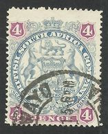 Rhodesia, British South Africa Company, 4 P, 1897, Sc # 54, Mi # 53, Used, Bulawayo - Great Britain (former Colonies & Protectorates)