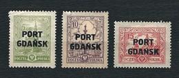 """DANZIG 1926 - Francobolli Di Polonia Soprastampati """"PORT GDANSK"""" - MH - 11 Valori - Michel PL-PG 12-14 - Dantzig"""
