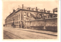 Kain (Tournai)-Collège N.D. De La Tombe-Façade-Rails Du Tram-Pas Courante-Timbre COB 420 De 1935-1937 - Doornik