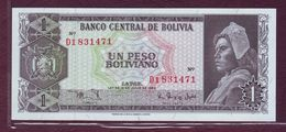 BOLIVIE - 1 Peso Boliviano Campesino - 13/07/1962 - Bolivia