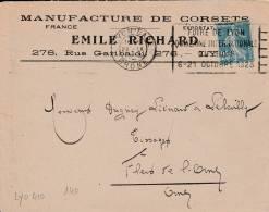 LYON - Flamme De 1923 - Postmark Collection (Covers)