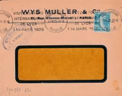 LYON - Flamme De 1926 - Postmark Collection (Covers)