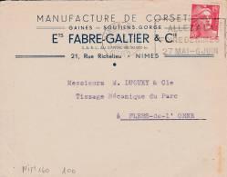 NIMES - Flamme De 1949 - Postmark Collection (Covers)
