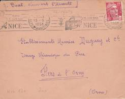 NICE Flamme De 1951 - Postmark Collection (Covers)