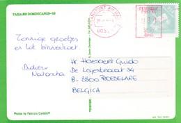 Postkaart Uit De Dominikaanse Republik : Franfurt DCS Label => Belgie - Timbres