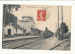 SAINT MAMMES LA GARE AVEC TRAIN CPA BON ETAT - Stations With Trains