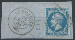 Lot N°41837  N°22/Fragment, Oblit GC 4277 La Villette, Seine (60) - 1862 Napoleon III