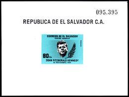 El Salvador 1964 J F Kennedy Airmail Souvenir Sheet Unmounted Mint. - El Salvador