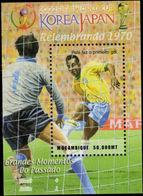 Mozambique 2002 Pele Souvenir Sheet Unmounted Mint. - Mozambique