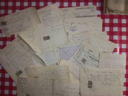 LE VESINET:150g De Papiers XIXe Concernant Des Travaux Dans La Propriété 8 Rue Jouffroy Au Vésinet. Port France 3,20€ - Vieux Papiers