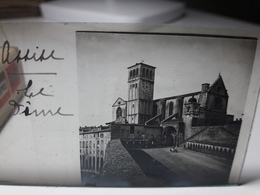 159 - Plaque De Verre - Italie - Assise, Le Dôme - Glasplaten